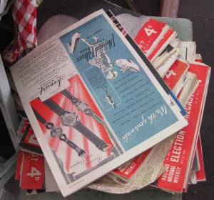 1940s picture post magazines at ardingly antique fair