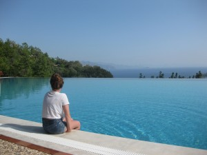 infinity pool at dionysos, turkey