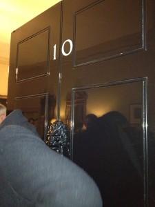 Front door, 10 Downing Street. Copyright Gretta Schifano