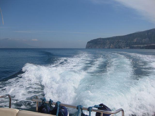 Boat to Capri. Copyright Gretta Schifano