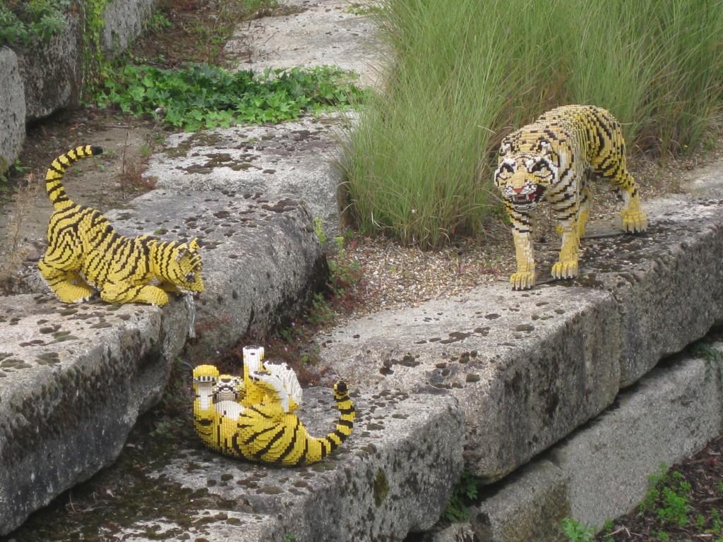 LEGO tigers. Copyright Gretta Schifano