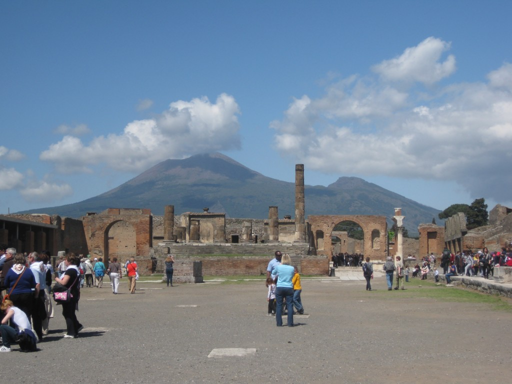 Vesuvius from Pompeii. Copyright Gretta Schifano