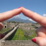 View of Mount Vesuvius from Pompeii. Copyright Gretta Schifano