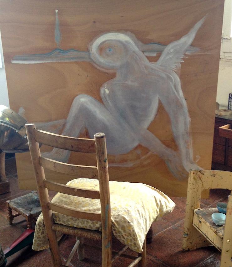 Dalí's studio. Copyright Gretta Schifano