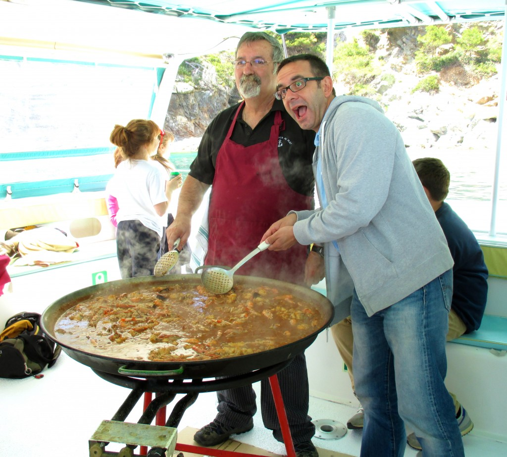 Cooking paella. Copyright Gretta Schifano