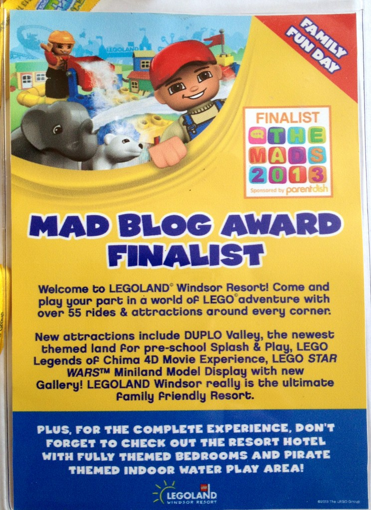 MAD blog LEGOLAND pass. Copyright Gretta Schifano