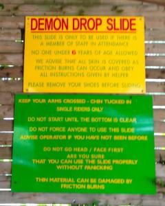 Demon Drop Slide. Copyright Gretta Schifano