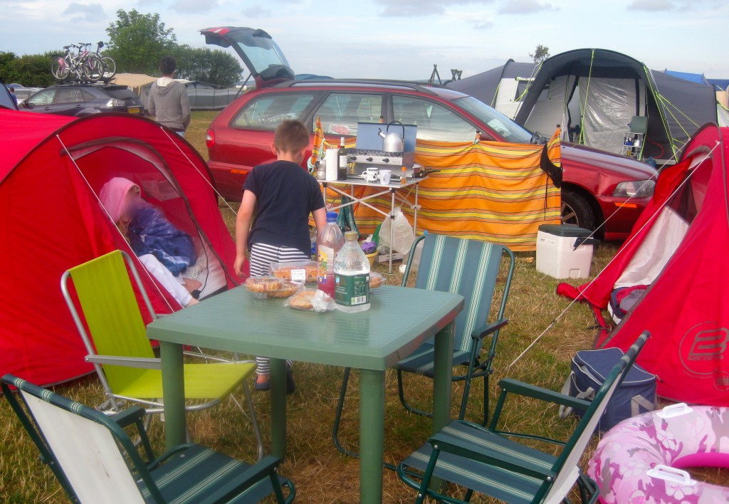 Family camping. Copyright Gretta Schifano