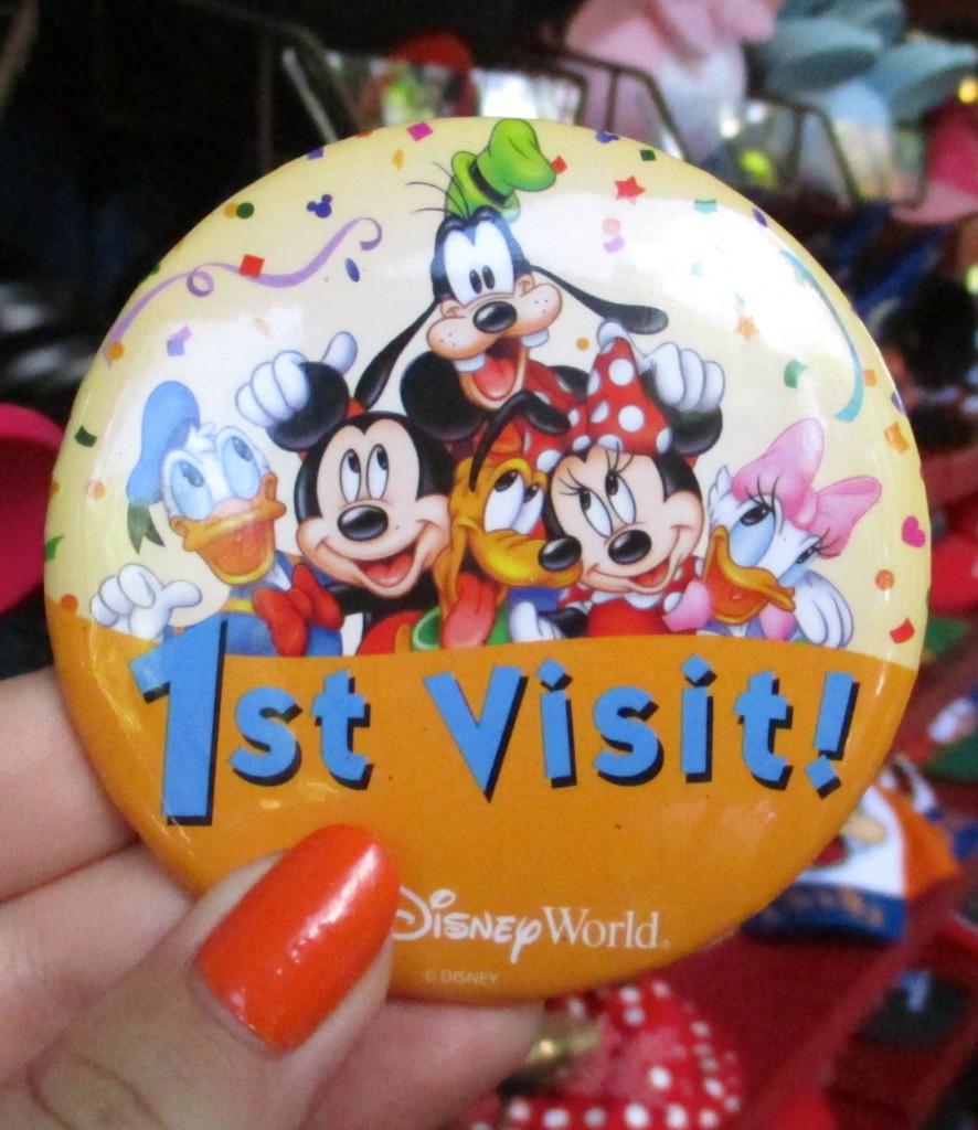 Disney 1st visit badge. Copyright Gretta Schifano