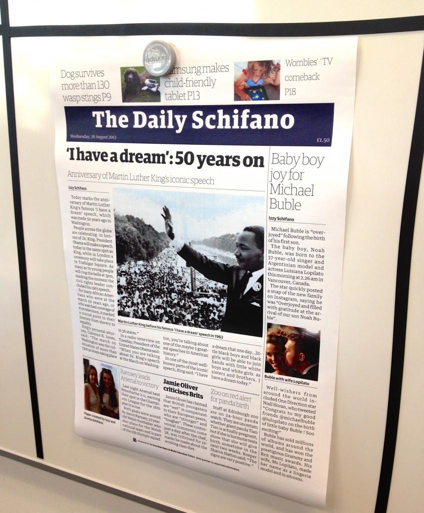 The Daily Schifano. Copyright Gretta Schifano