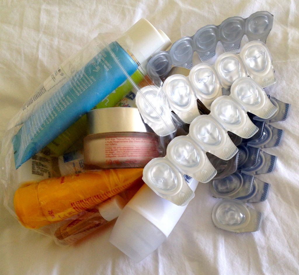 Liquids that can't go in hand luggage. Copyright Gretta Schifano.