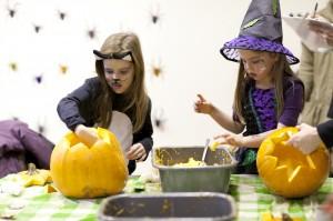 Children at a Halloween event at Hughenden, Buckinghamshire.