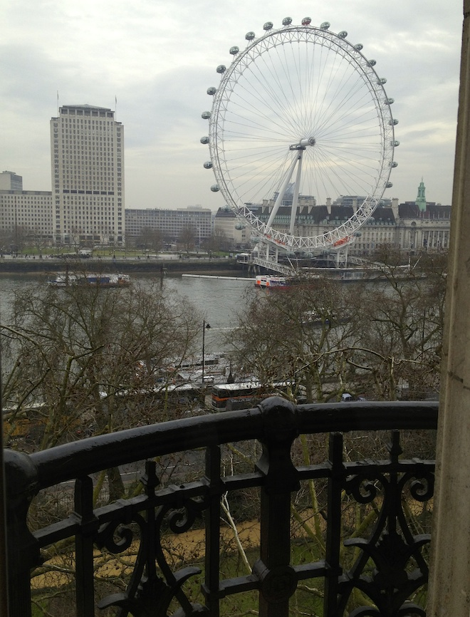 View from Royal Horseguards Hotel. Copyright Gretta Schifano