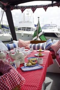 The Picnic Boat, Dartmouth, Devon. Copyright Kevin and Rayne Ward