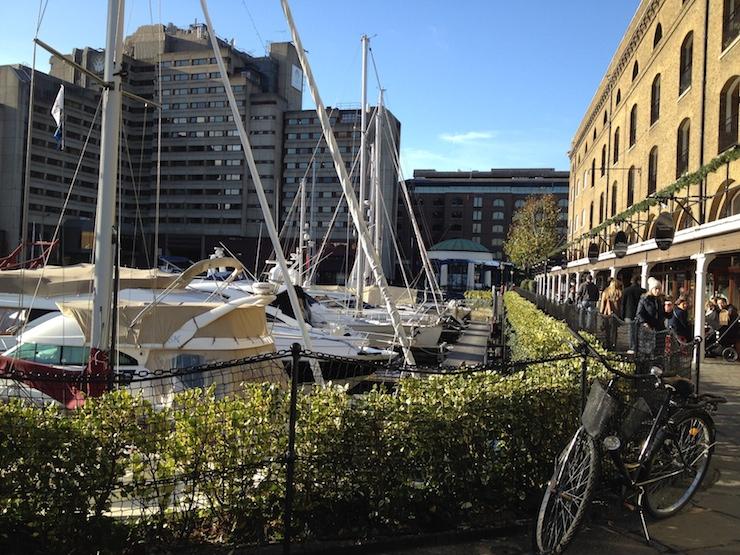 St Katherine's Dock. Copyright Gretta Schifano