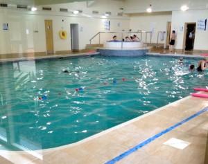 Holiday Inn Cambridge pool. Copyright Gretta Schifano