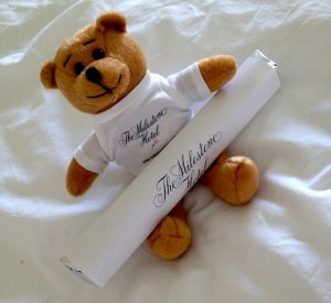 he Milestone Hotel teddy and chocolate giveaway