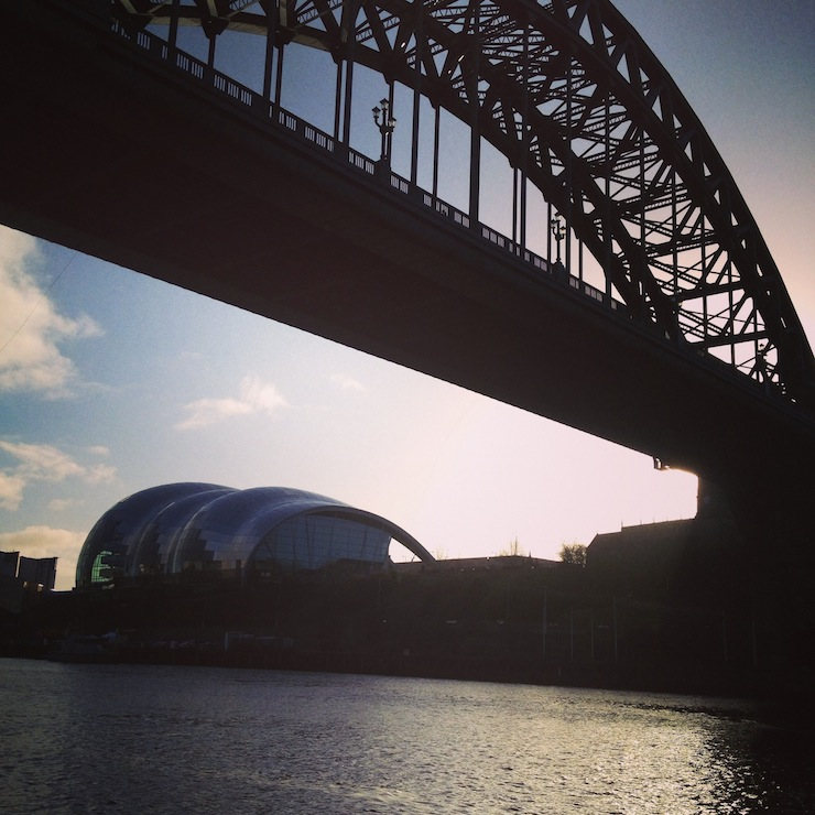 View from the Quayside, Newcastle. Copyright Gretta Schifano