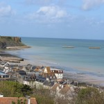 Arromanches & Mulberry harbour, Normandy. Copyright Gretta Schifano