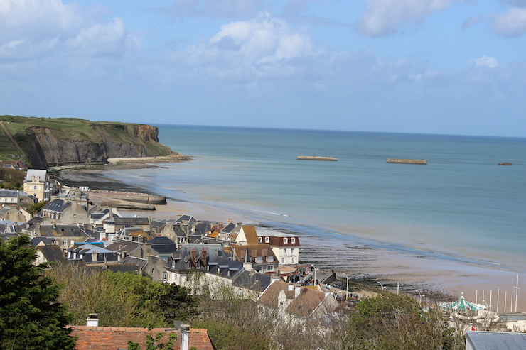 Arromanches & Mulberry harbour. Copyright Gretta Schifano