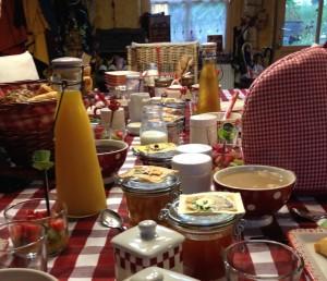 Breakfast at La Bergerie, Normandy, France Copyright Gretta Schifano