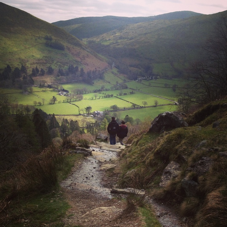 Walking down Cadair Idris. Copyright Gretta Schifano