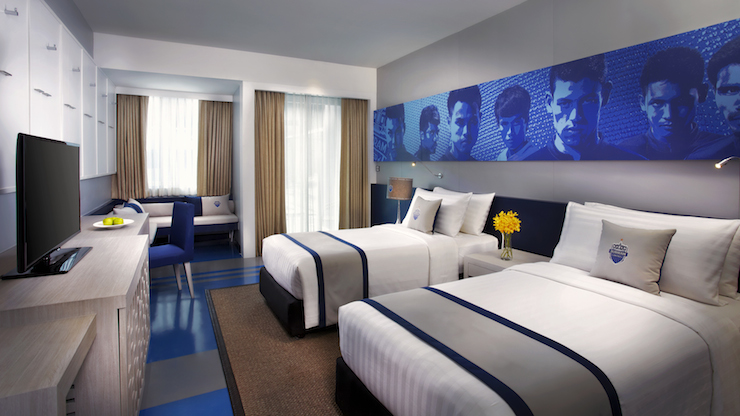 Amari Buriram United deluxe room. Image courtesy of Amari Buriram United