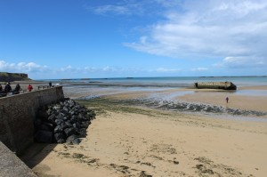 Beach at Arromanches. Copyright Gretta Schifano