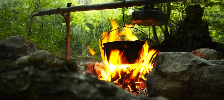 Campfire. Image courtesy of Embers Camping.