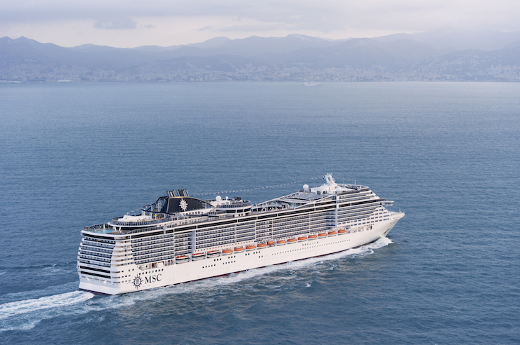 MSC Preziosa. Image courtesy of MSC Cruises.