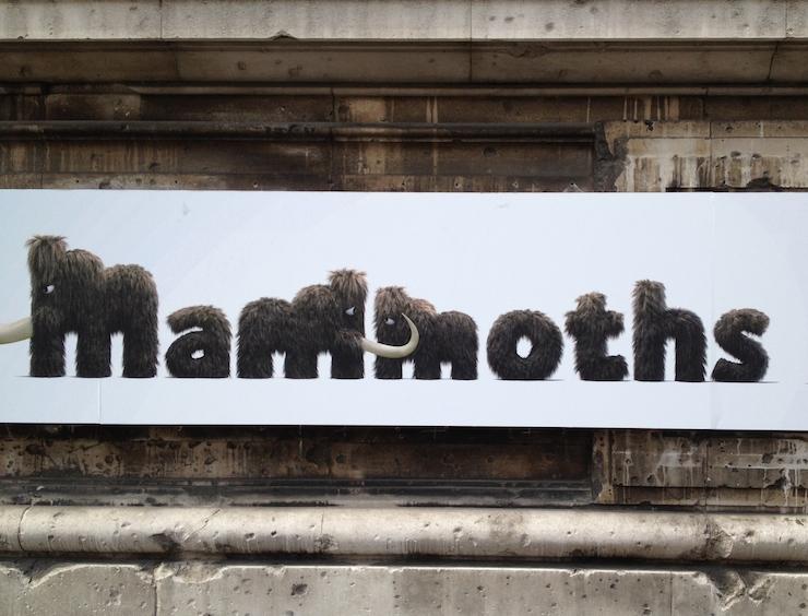 Mammoths exhibition sign. Copyright Gretta Schifano