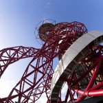 ArcelorMittal Orbit from below. Image courtesy of ArcelorMittal Orbit