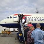 Boarding a plane. Copyright Gretta Schifano