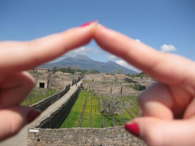 View of Vesuvius from Pompeii. Copyright Gretta Schifano