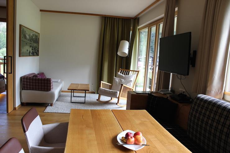 Aqua Dome family suite. Copyright Gretta Schifano