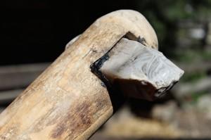 Flint axe, Ötzi Dorf. Copyright Gretta Schifano