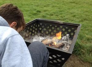 Watching the fire, Embers Bentley. Copyright Gretta Schifano