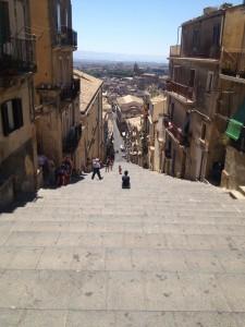 Ceramic tiled steps at Caltagirone, Sicily. Copyright Gretta Schifano
