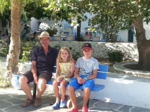 Lorenza Bacino's family in Folegandros. Copyright Lorenza Bacino