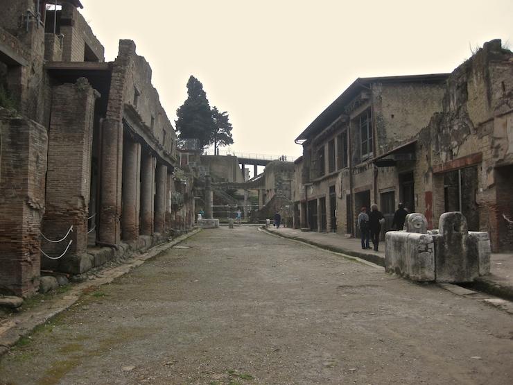 Roman street, Herculaneum, Italy. Copyright Gretta Schifano