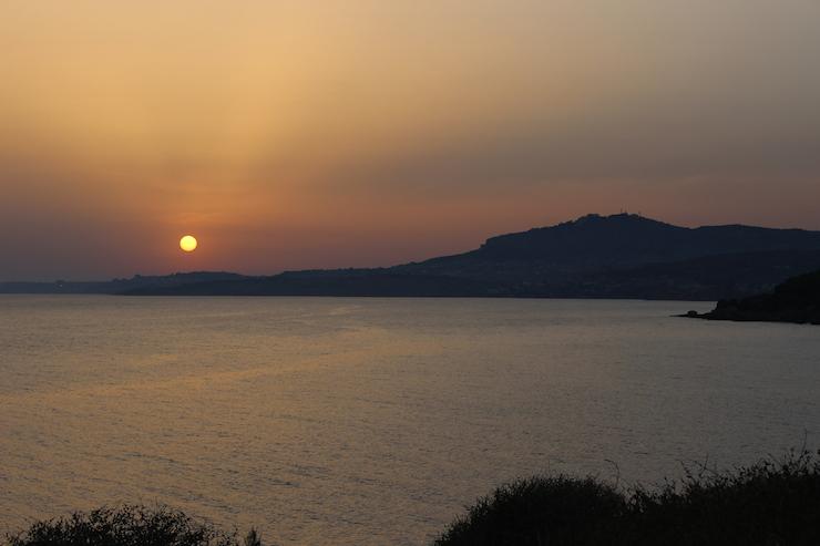 Sicilian sunset. Copyright Gretta Schifano
