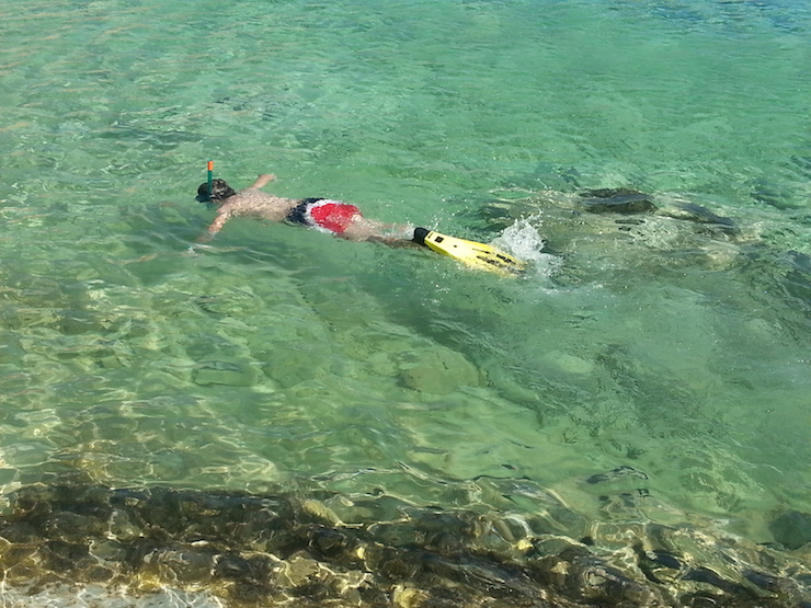 Snorkelling in Kouffounissi island. Copyright Lorenza Bacino