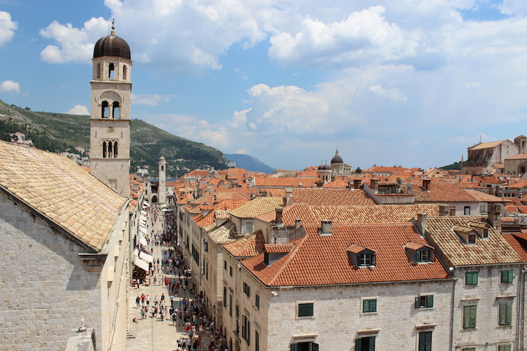 View of Dubrovnik from the city walls. Copyright Gretta Schifano