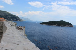 View of the Adriatic from Dubrovnik city walls. Copyright Gretta Schifano
