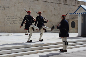 Changing of the guard, Athens. Copyright Gretta Schifano