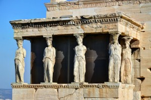 Caryatids Acropolis. Image courtesy of Marketing Greece