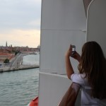 MSC Preziosa Taking photos of Venice from our balcony.Copyright Gretta Schifano