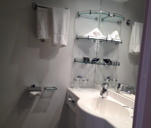 MSC Preziosa en-suite bathroom. Copyright Gretta Schifano