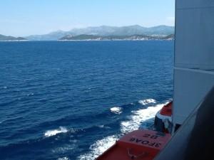 MSC Preziosa view from our cabin balcony. Copyright Gretta Schifano