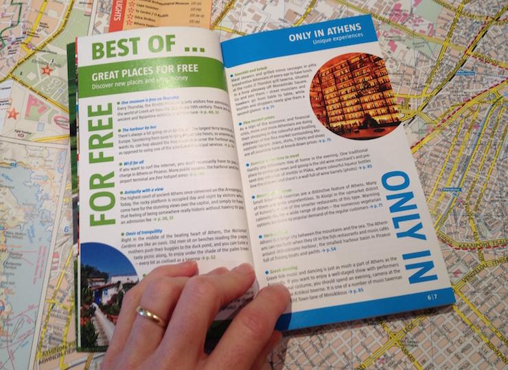 Marco Polo Athens guidebook. Copyright Gretta Schifano